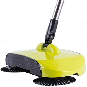 Pro Spin Sweeper Automatic Hand Push Broom 360 Rotary