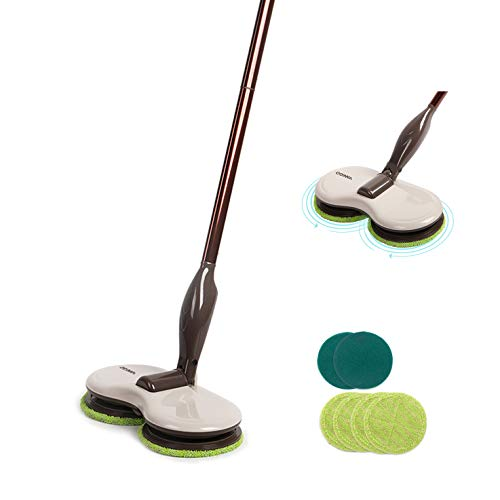 Electric Spin Mop Cordless Floor Sweeper Cleaner With